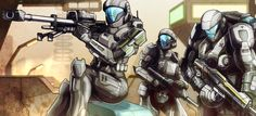 HALO - Squad 'Graves of Ghosts' by biduke