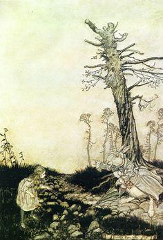 イギリスの挿絵画家アーサー・ラッカムが描いた「不思議の国のアリス」の世界 | ADB