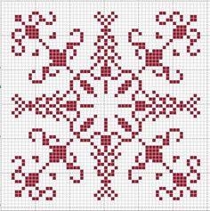 Christmas Decoration with bead tassel Biscornu Cross Stitch, Cross Stitch Charts, Cross Stitch Designs, Cross Stitch Patterns, Blackwork Embroidery, Cross Stitch Embroidery, Embroidery Patterns, Cross Stitch Angels, Knitting Charts