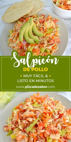 Salpicón de pollo Chicken spatula Recipe easy and ready in minutes. Lunch Recipes, Mexican Food Recipes, Real Food Recipes, Chicken Recipes, Cooking Recipes, Healthy Cooking, Healthy Snacks, Healthy Eating, Healthy Recipes