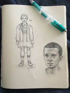 """""""ELEVEN MY BEAUTIFUL BABY!!"""" - Millie Bobby Brown drawings from Stranger Things"""