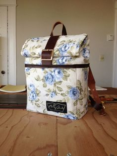 The Backpack in Limited Edition Vintage Floral Cotton 1 of 2