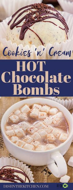 A Chocolate Bomb recipe with simple directions for dreamy marshmallow and hot cocoa mix filled chocolate spheres. Plop them in a mug of hot milk and watch them melt into a cozy cup of chocolate bliss. #chocolatebomb #hotchocolate #hotcocoa How To Temper Chocolate, Hot Chocolate Mix, Chocolate Recipes, Best Dessert Recipes, Delicious Desserts, Yummy Food, Amazing Recipes, Drink Recipes, Filled Cookies