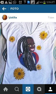 Camisa pintada  Feito por Dallila Virginío. Facebook: https://www.facebook.com/lyla.virginio
