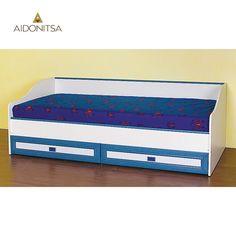 Κρεβάτι παιδικό 193, 5x65 με ανατομικό σομιέ με μεταλλικό σκελετό, καμπυλωτά ξύλα οξιάς και μεταλλικά ρυθμιζόμενα ποδαράκια και με 2 συρτάρια στο κάτω μέρος του. Δέχεται στρώμα 80x190 (το στρώμα δεν περιλαμβάνεται). Από την Alphab2b.gr Kids Room, Rugs, Bed, Furniture, Home Decor, Products, Farmhouse Rugs, Room Kids, Decoration Home