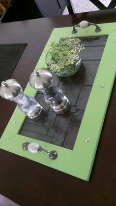 DIY window frame breakfast tray :)