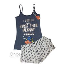 Primark Ladies #Disney Finding Nemo Dory Vest & Shorts Pyjamas Pj's Sleep Set from $19.77