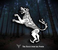 Simple wolf design #drawing #illustration #linework # #blackandwhite #black #ink #head #dog #wolf #warg #celtic #pagan #norse #viking #fantasy #style #teeth #tongue #tattoodesign #tattoo #tail...