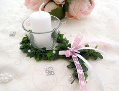 Dekoration - 3 x Set Fisch Votivglas Kerze Tischdeko Taufe rosa - ein Designerstück von Lavendel222 bei DaWanda