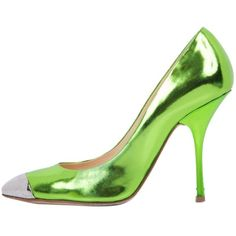Pre-owned Giuseppe Zanotti Lime Green Metallic Pumps (1.475.375 IDR) ❤ liked on Polyvore featuring shoes, pumps, flowers, lime green metallic, giuseppe zanotti, silver metallic pumps, giuseppe zanotti pumps, lime green shoes and silver cap toe pumps