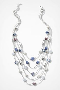 Iridescent Illusion Necklace - Coldwater Creek