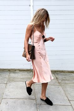 2+Incredibly+Cool+Ways+to+Style+a+Slip+Dress+via+@WhoWhatWear