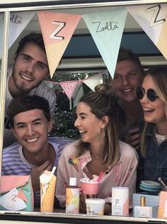 Alfie, Mark, Zoe, Sean and Poppy at Zoes Jelly and Gelato launch