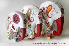 Paper Mache Crafts, Quilling Paper Craft, Clay Crafts, Arts And Crafts, Paper Clay, Clay Art, Elephant Silhouette, Elephant Art, Ceramic Painting
