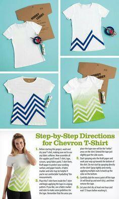 Chevron spray paint T-shirt