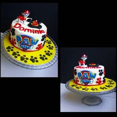 Paw patrol cake for my sons 3rd Birthday!! He's going to go nuts! Marshall is…