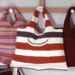 Tote bag from recycled sweaters