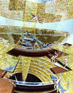Imaginando futuro ¿Cómo sería que por fin conquistamos el futuro?   Ver lo que propones varios artistas contratados por la NASA en los años 70