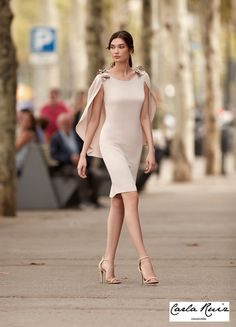 Simple Mother Of The Bride Dresses With Cape Sheath Short Knee Length Wedding Guest Dress Formal Party Gown vestidos de madrinha Simple Dresses, Elegant Dresses, Cute Dresses, Beautiful Dresses, Dresses Dresses, Party Dresses, Short Dresses, Kleidung Design, Bride Groom Dress