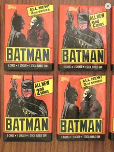 Batman Trading Cards (4) Unopened Wax Pack Lot Trading Cards and Stickers 1989 Topps 2nd Series Non-sport @ niftywarehouse.com