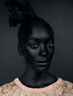 skin: black black: model Jourdan Dunn 03 by David Slijper for Dazed & Confused 2008-03 (via IIIINSPIRED 2010-09)