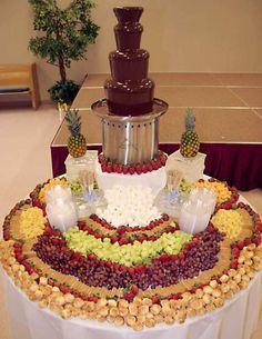 wedding-food-chocolate-fountain