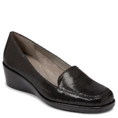 Women's Aerosoles Final Exam - Black Lizard
