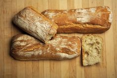 Classic Ciabatta Bread - likely purchase from mad river.