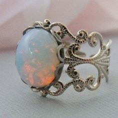 Silver Opal Ring $18.00