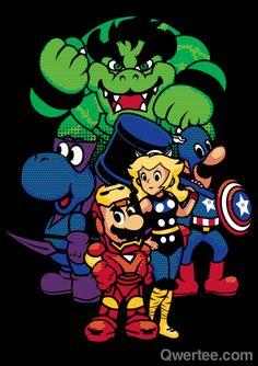 Avengers / Super Mario mashup