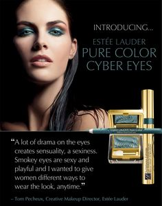 New Estee Lauder Pure Color Cyber Eyes Eyeshadow, Intense Kajal EyeLiner, and Sumptuous Extreme Mascara