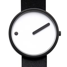 Picto (white/black) watch by Rosendahl. Available at Dezeen Watch Store: www.dezeenwatchstore.com