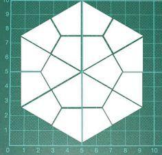 Hexagon hier gratis eine PDF-Datei mit Schablonen fürs Lieseln wie Hexagons (Sechsecken), Pentagons (Fünfecken), Quadrate, Rauten Lonestars, Dreiecke usw. Hexagon Patchwork, Patchwork Patterns, Hexagon Quilt, Quilt Block Patterns, Patchwork Quilting, Quilt Blocks, Quilts, English Paper Piecing, Quilting Templates