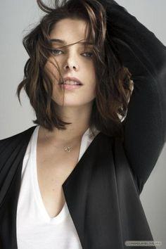 ashley greene - I think she looks better with short hair...
