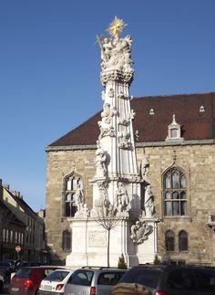 Budapest, Hungary - Trinity Column, erected on behalf of plague survivors (photo by Peggy Mooney)