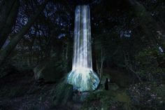 A digital waterfall, interactive lily pond, and illuminated cherry blossoms are coming to the Japanese countryside in an ambitious new project from teamLab. Japan Places To Visit, Japanese Countryside, Projection Mapping, Lily Pond, Natural Park, Light Installation, Three Dimensional, Waterfall, The Incredibles