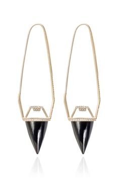 Jewelry ideas Black Guatemalan Jade And White Diamond Pendulum Earrings by Monique Péan for Preorder on Moda Operandi