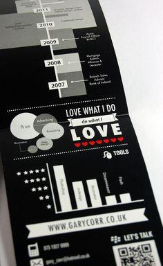 Infographic CV by Gary Corr, via Behance