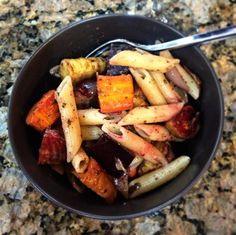 roasted winter veggie pasta 1