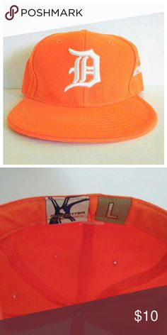 Bright Orange Detroit Hat Brand new, never worn bright orange Detroit Hat. Would be great for Detroit Tigers fans too! It has more of a Trucker hat style vs a traditional baseball cap shape. City Hunters Accessories Hats