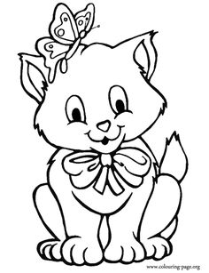 Cats and Kitten Coloring Pages 34 Kids Pinterest Cat Free