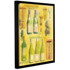 """Andover Mills Wine Collage Framed Vintage Advertisement on Wrapped Canvas Size: 48"""" H x 36"""" W x 2"""" D"""