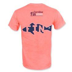 Carolina Fin Fish T-Shirt - Neon Orange