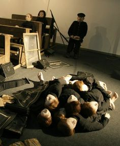Tadeusz Kantor - installation and performance - The Dead Class Samuel Beckett, Theatre Design, Stage Design, Speaking In Tongues, On The Bright Side, Surreal Art, Sculptures, Scene, Instagram Posts