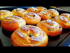 Долго искала ЭТОТ РЕЦЕПТ! Добавьте ЕГО в тесто - место ЯИЦ Булочки с Творогом Потрясающие получаются - YouTube Bagel, Doughnut, Nom Nom, Recipies, Sweets, Bread, Baking, Fruit, Desserts