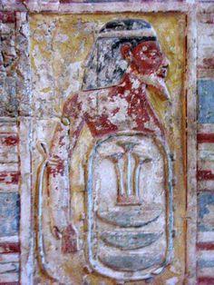 Tomb of Kheruef (TT192), reign of Amenhotep III and Akhenaten: bound captive from Aegean isles or Mediterranean sea © OSIRISNET.NET