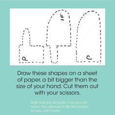 felt mittens tutorial!