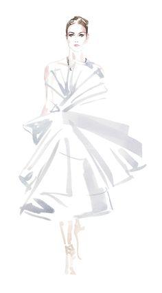 Watercolour fashion illustration // Christian David Moore