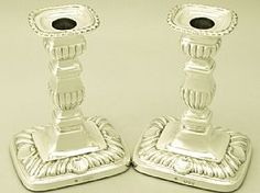 A fine and impressive pair of antique Victorian English sterling silver candlesticks; an addition to our ornamental silverware collection. SKU: W9409 Price: GBP £995.00 http://www.acsilver.co.uk/shop/pc/Pair-of-Sterling-Silver-Candlesticks-Antique-Victorian-66p6460.htm#.VAsVcc90zcs