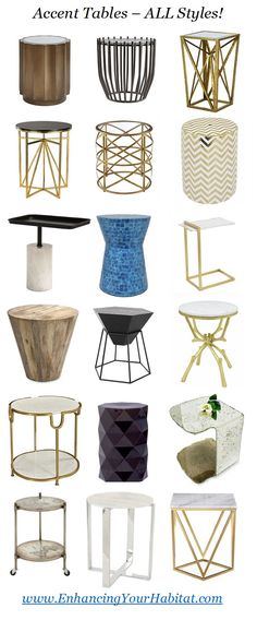 accent tables, side tables, nightstands & foyer tables